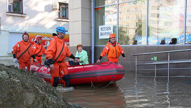 Эвакуация во время паводков в Забайкальском крае
