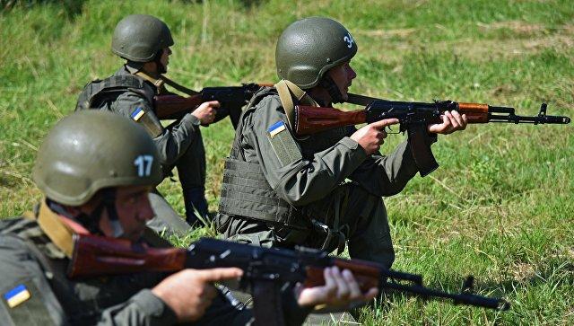 Резервисты Национальной гвардии Украины на сборах во Львовской области. Архивное фото