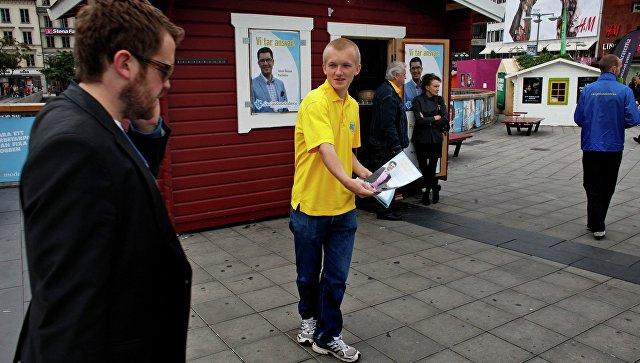 Предвыборная агитация в Швеции