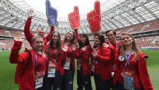 В центре внимания: будни волонтеров ЧМ-2018 на Стадионе Лужники