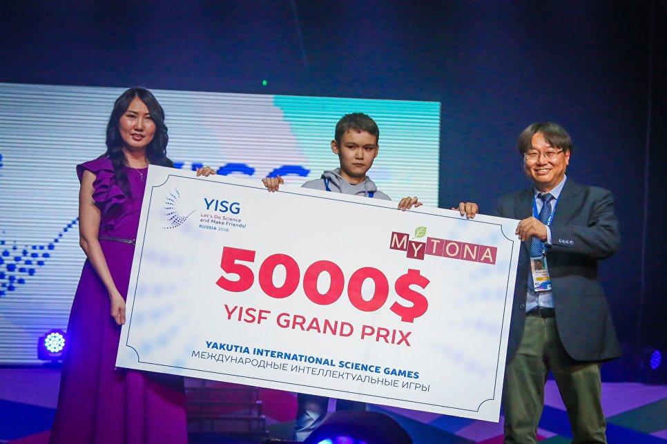 Школьник из Казахстана Нурдаулет Таумергенов  завоевал Гран-при Science Fair