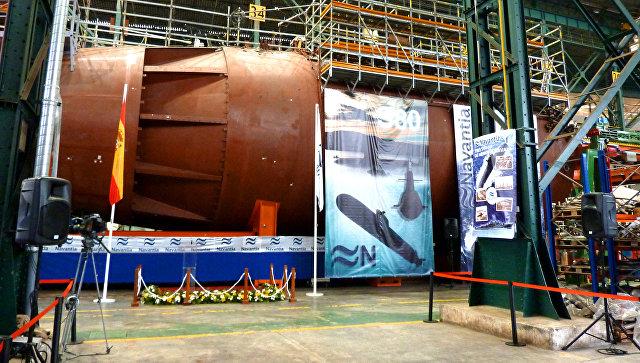 Строительство испанской подводной лодки S-80 в цехе компании Navantia. Архивное фото