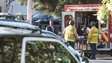 Подозреваемый в стрельбе и захвате заложников в магазине Trader Joe's supermarket в Калифорнии после задержания полицией.  21 июля 2018