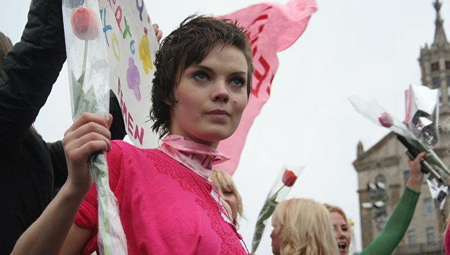Украинская художница и одна из основательниц международного женского движения FEMEN Оксана Шачко. Архивное фото