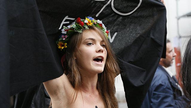 Украинская художница и одна из основательниц международного женского движения FEMEN Оксана Шачко