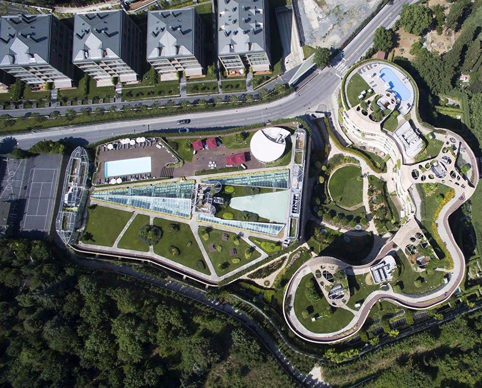 Сад на крыше в Турции