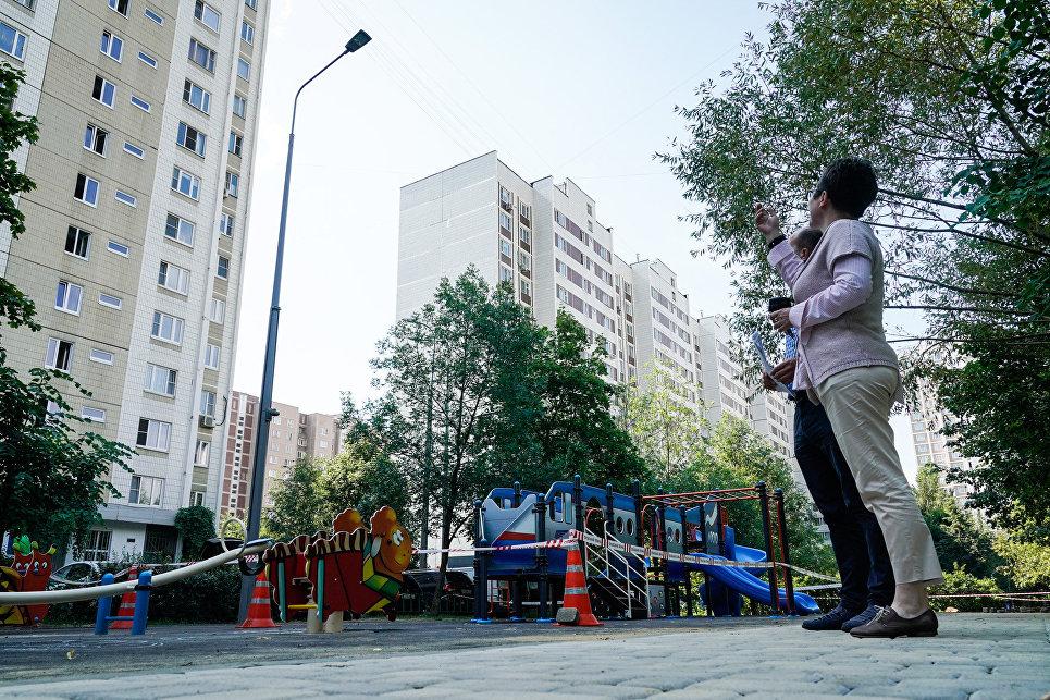 Детская площадка по Мячковскому бульвару в Марьино
