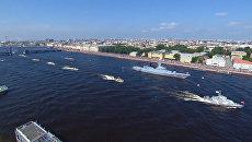 День ВМФ: корабли, авиация и салют в Санкт-Петербурге