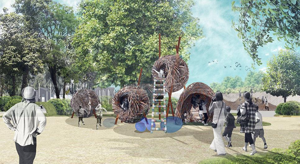 Детская часть Московского зоопарка, гнезда