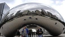 Арт-объект в Millennium Park, Чикаго