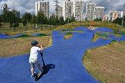 Скейт-парк на территории парка 850-летия Москвы в районе Марьино