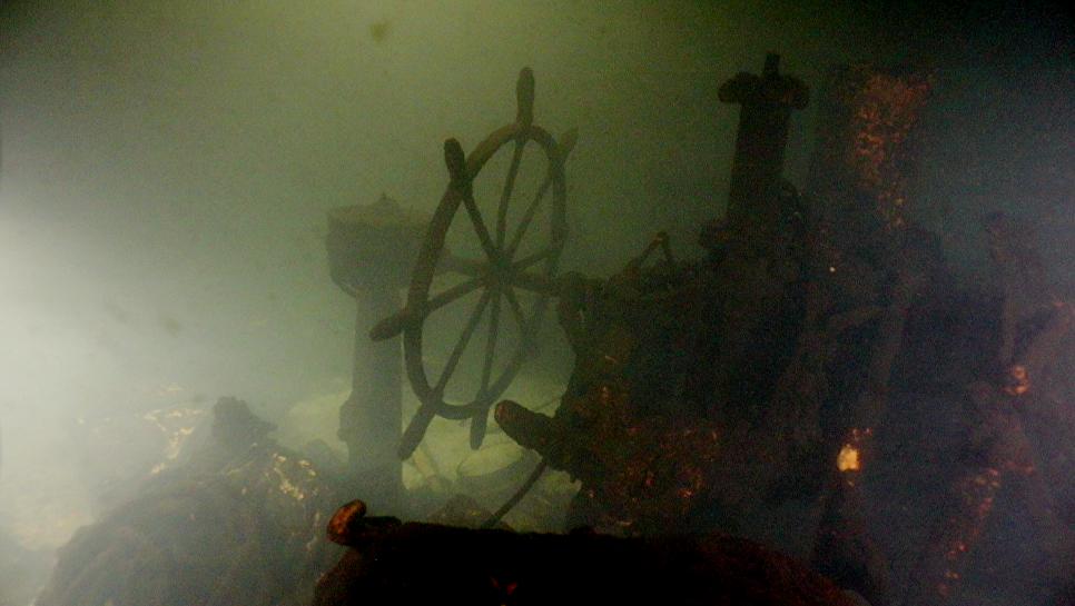 Останки эсминца «Новик» на дне Финского залива