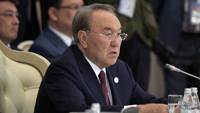 Президент Казахстана Нурсултан Назарбаев на встрече глав государств-участников V Каспийского саммита в Актау. 12 августа 2018