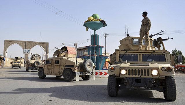 Афганские военные в городе Газни. Архивное фото