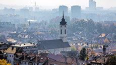 Вид на Белград, Сербия. Архвиное фото