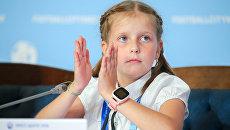 Волонтер Российского движения школьников Вера Баукина