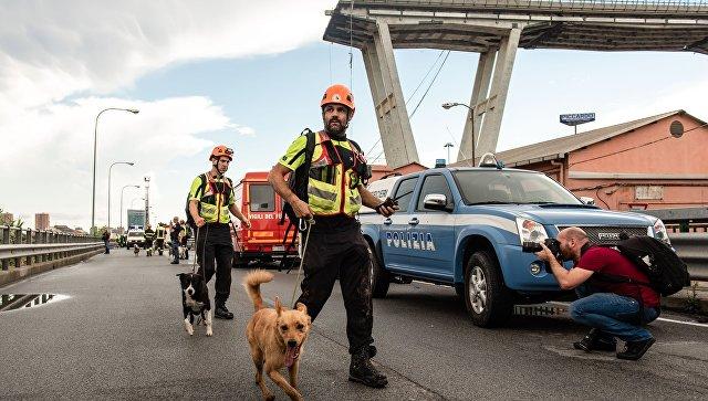 В Генуе приостановили спасательные работы на месте обрушения моста
