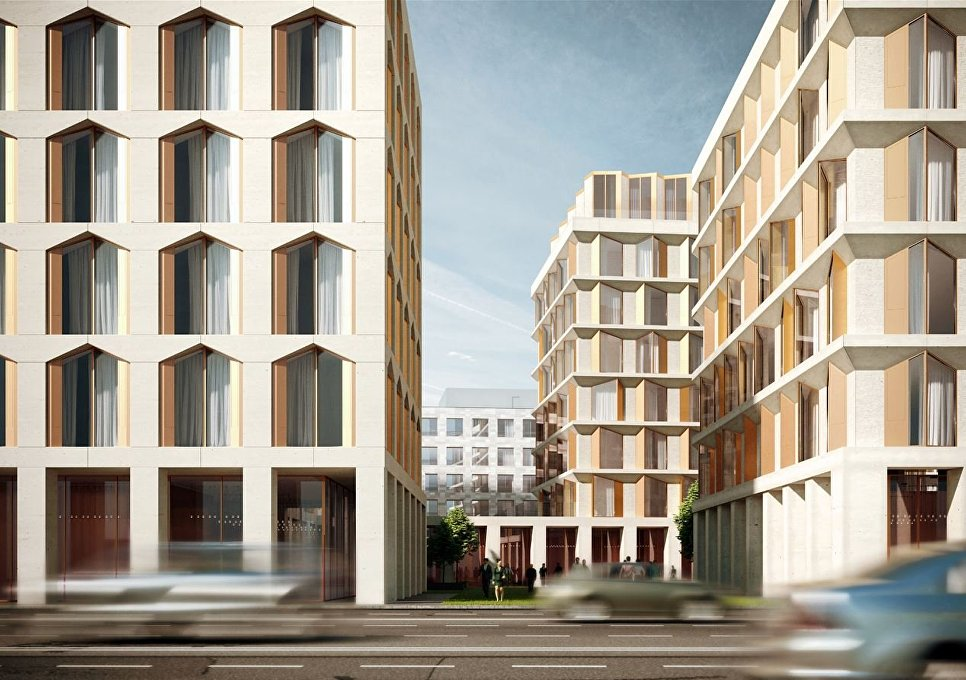 Визуализация проекта общественно-делового комплекса на Садовнической улице