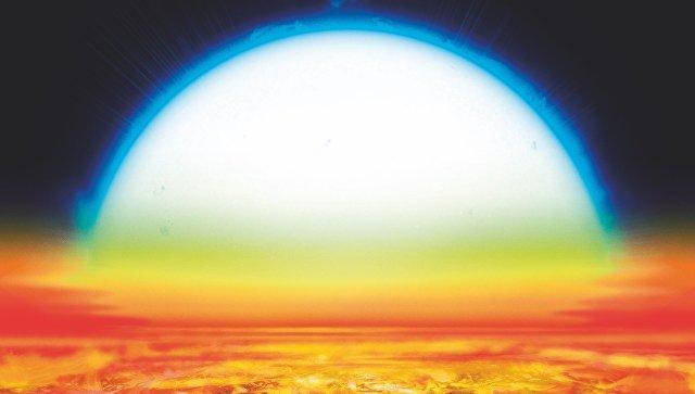 Так художник представил себе планету KELT-9b