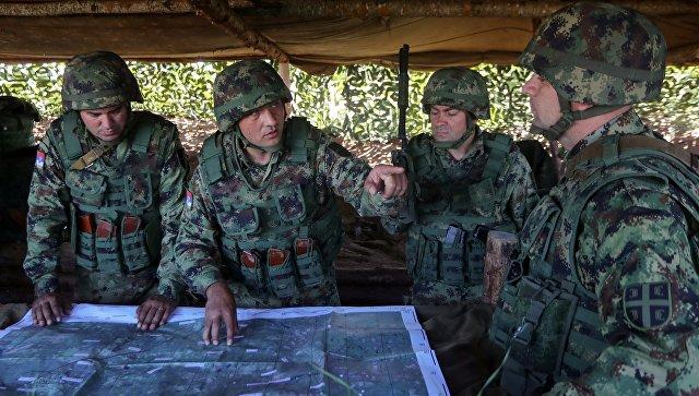 Военнослужащие армии Сербии. Архивное фото