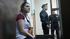 Анна Павликова в Дорогомиловском суде Москвы. 16 августа 2018