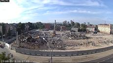 В Кемерово снесли здание ТЦ Зимняя вишня