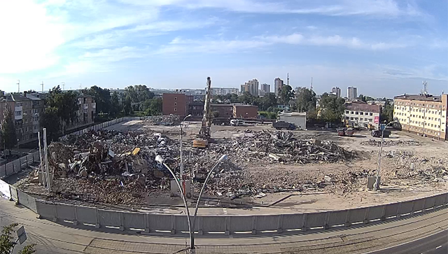 В Кемерово снесли здание ТЦ Зимняя вишня. 21 августа 2018