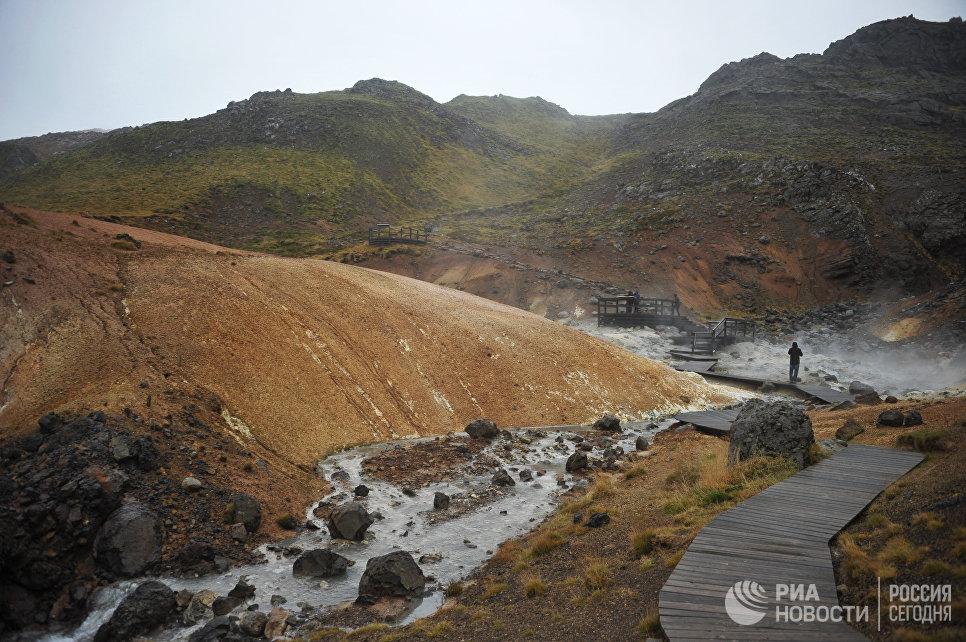 Геотермальные источники Селтун в окрестностях Рейкьявика.