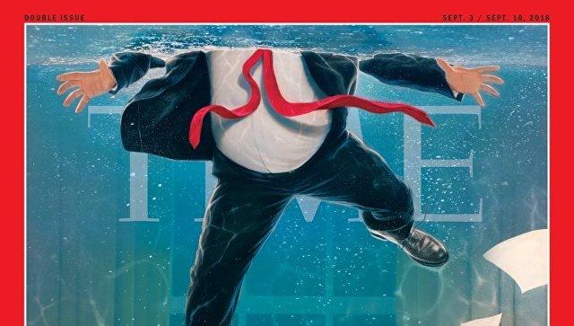 Журнал Time поместил на обложку Трампа в затопленном Овальном кабинете