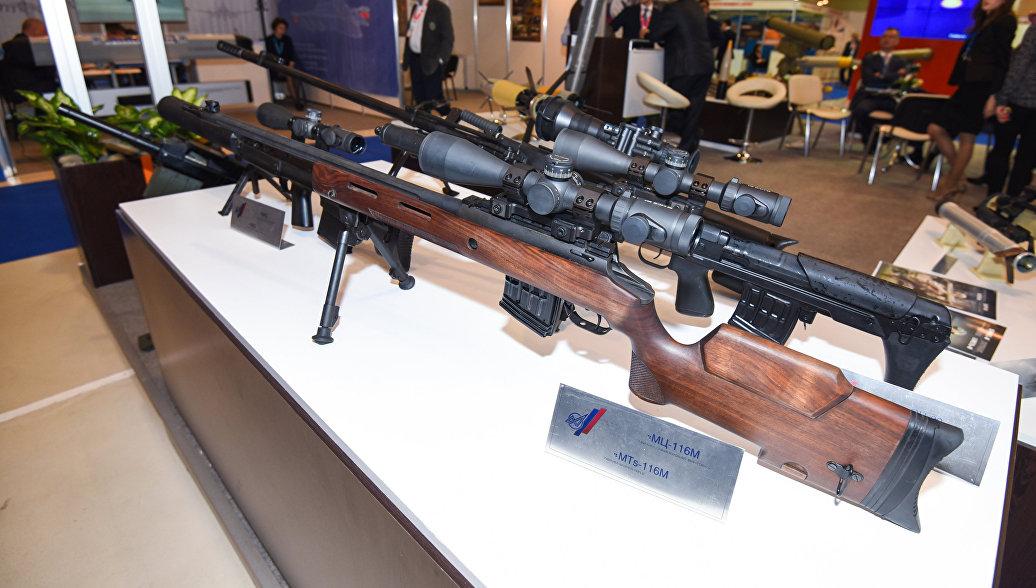Снайперская винтовка российского производства МЦ-116М. Архивное фото