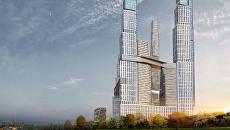 Проект небоскреба в Донском районе Москвы компании GORN
