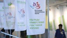 Логотипы ВЭФ на площадке IV Восточного экономического форума во Владивостоке