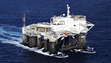 Платформа для запуска ракет в рамках проекта Морской старт. Архивное фото
