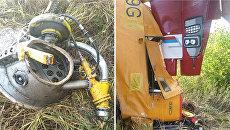 Детали самолета, разбившегося 12 сентября 2018 года в Ульяновской области при выполнении сельскохозяйственных работ