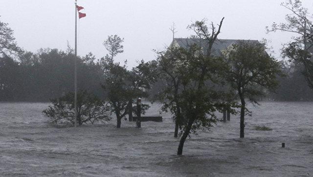 Ураган Флоренс в городе Суонсборо штата Северная Каролина. 14 сентября 2018