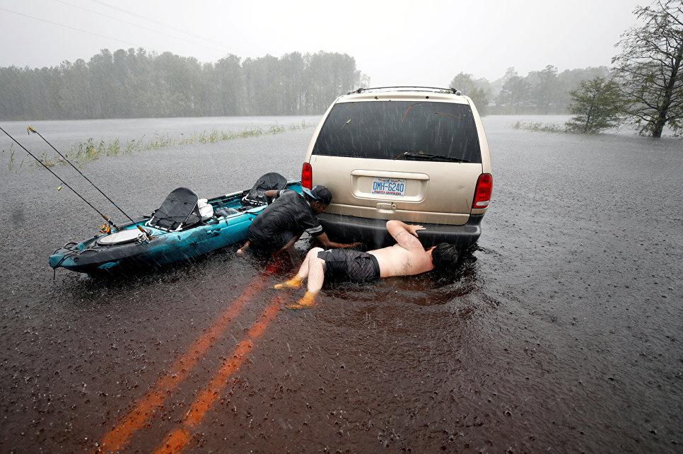 Последствия турагана Флоренс в штате Северная Каролина. 15 сентября 2018