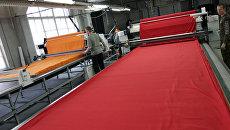 Цех раскроя ткани на фабрике