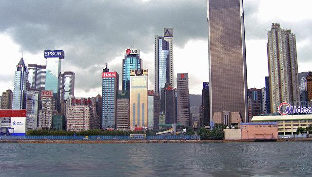 Вид на центральную часть острова Гонконг