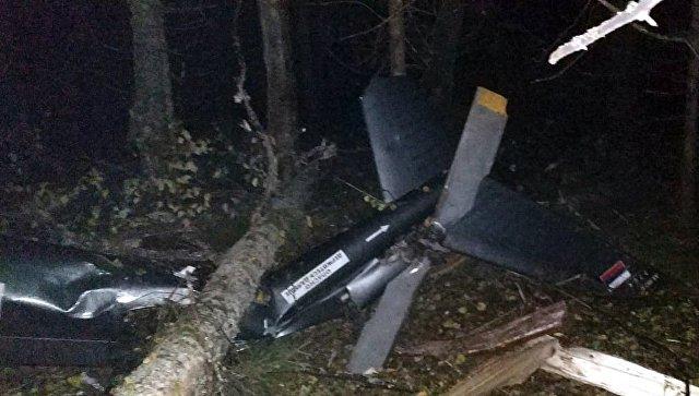 Обломки частного вертолета, при крушении которого погиб заместитель генерального прокурора РФ Саак Карапетян. 4 октября 2018