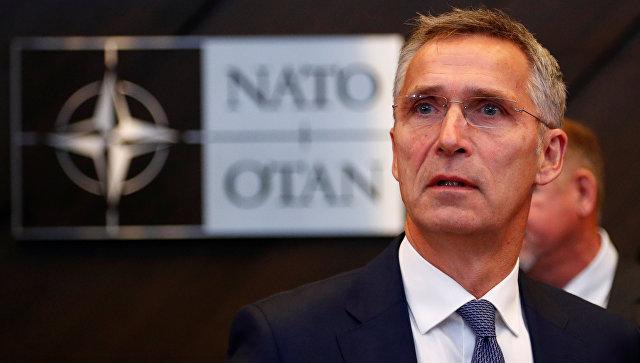 Генеральный секретарь НАТО Йенс Столтенберг на встрече министров обороны стран НАТО в Брюсселе