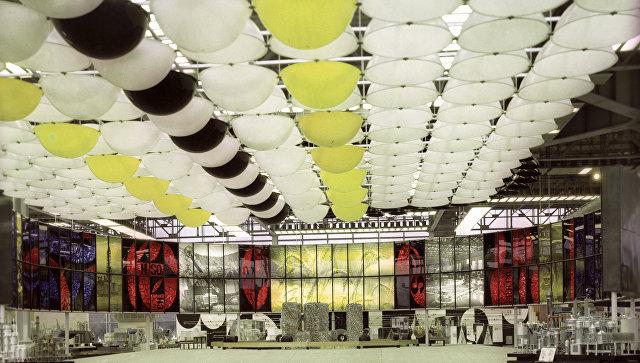 Стенд в павильоне Химическая промышленность. Выставка достижений народного хозяйства СССР (ныне ВВЦ).