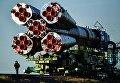 Вывоз ракеты-носителя Союз-ФГ с пилотируемым кораблем Союз МС-10 на стартовый стол первой Гагаринской стартовой площадки космодрома Байконур