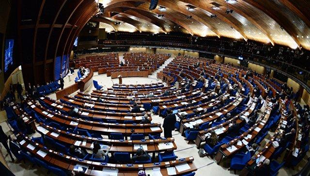 Делегаты в зале на пленарном заседании зимней сессии Парламентской ассамблеи Совета Европы. Архивное фото