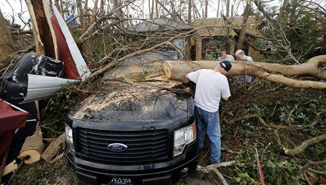 Последствия урагана Майкл. Архивное фото
