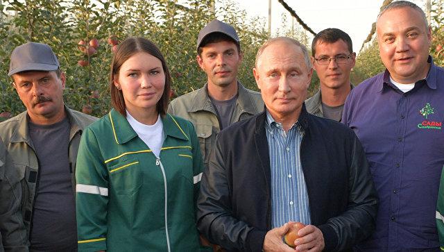 Путин объявил онебывалом росте сельского хозяйства