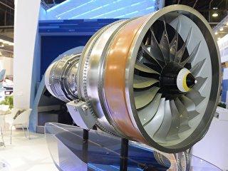 Двигатель ПД-14 для самолета МС-21 АО Объединенная двигательная корпорация. Архивное фото