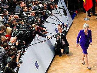 Премьер Британии Тереза Мэй на саммите ЕС в Брюсселе