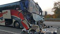 ДТП с автобусом и грузовиком под Киевом. 20 октября 2018