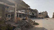 Старая часть города Дераа (Дераа-аль-Баляд), район, где началась сирийская война. Архивное фото