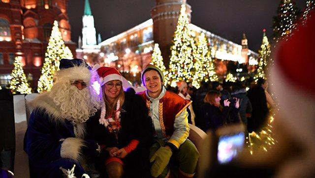 Во время празднования Нового года в Москве